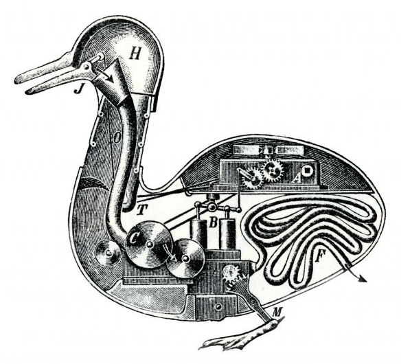 Mechanical duck by Jacques de Vaucanson (foto: Wikimedia Commons)