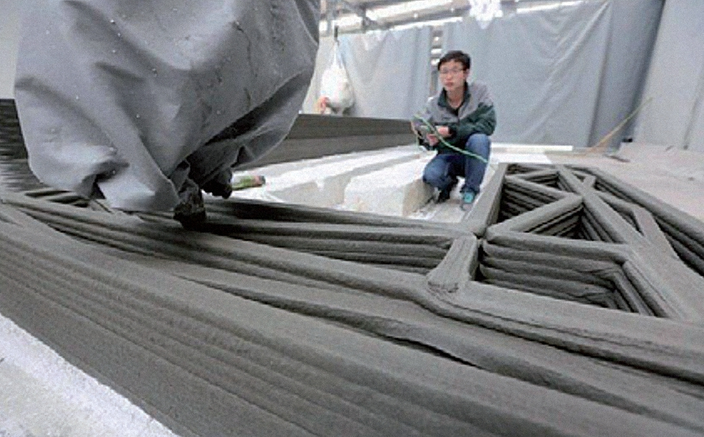 World's first 3D house printed by the Chinese company WinSun