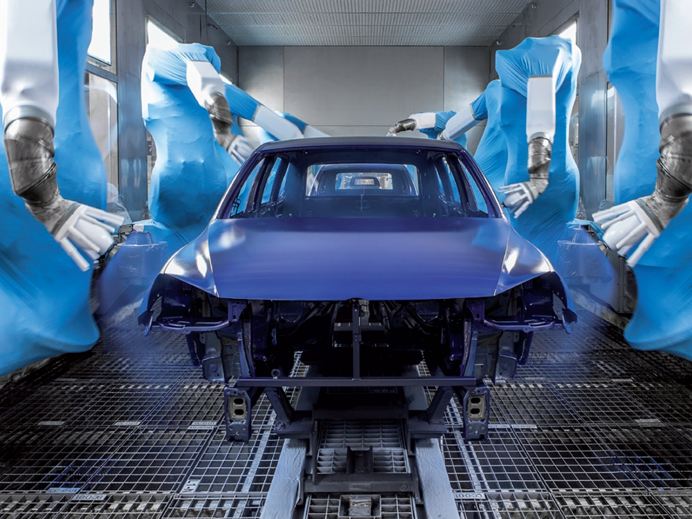 Production of Volkswagen cars in Bratislava. Credits: VW