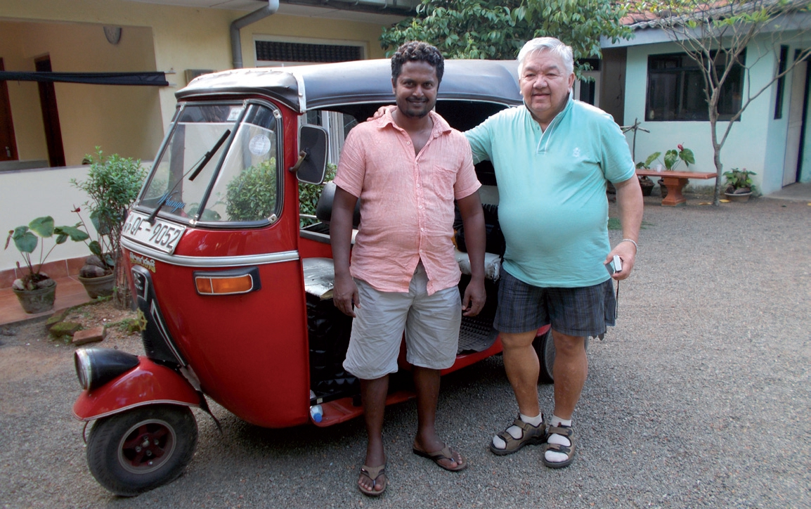 Tony and his friend Kumara, who now runs a small successful tour company in Sri Lanka.