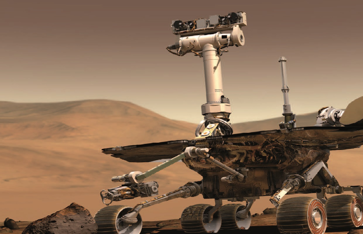 Rover Curiosity on Mars (NASA)