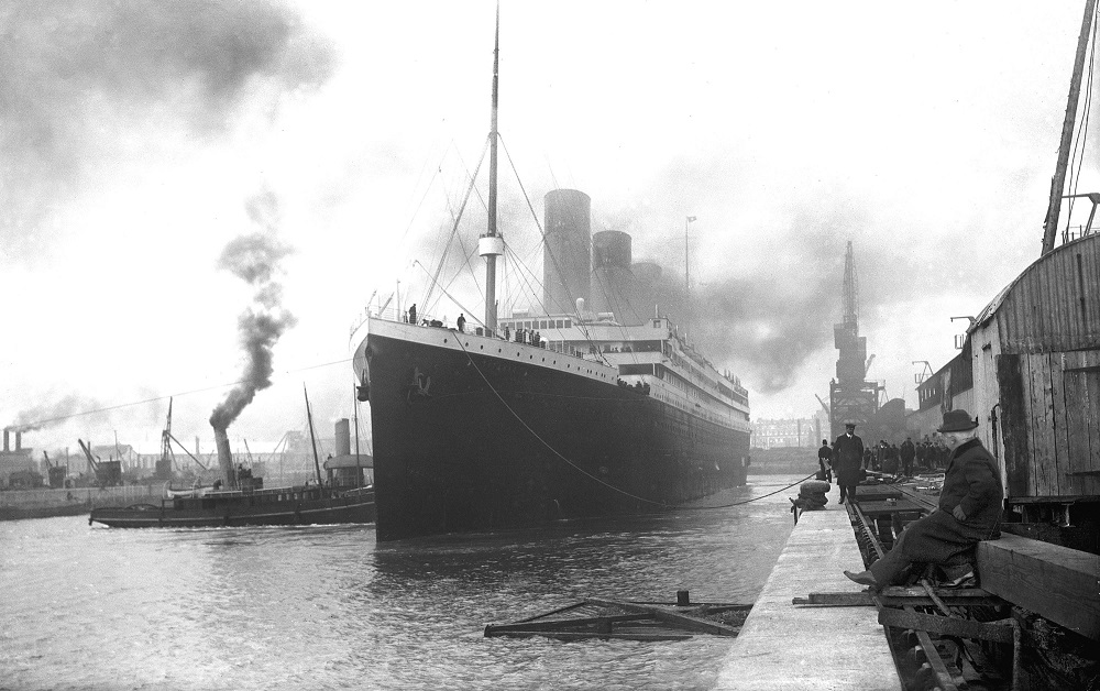The last photo of RMS Titanic in Southampton